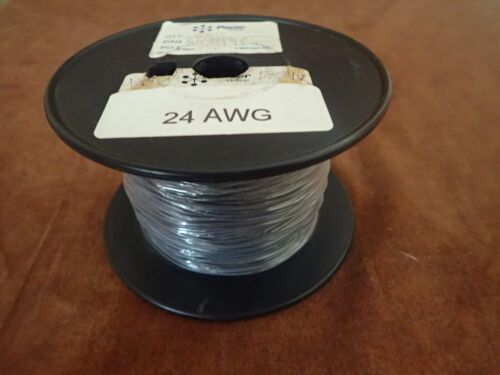 24AWG Gauge Tinned Stranded Hook Up Wire Black 500 ft