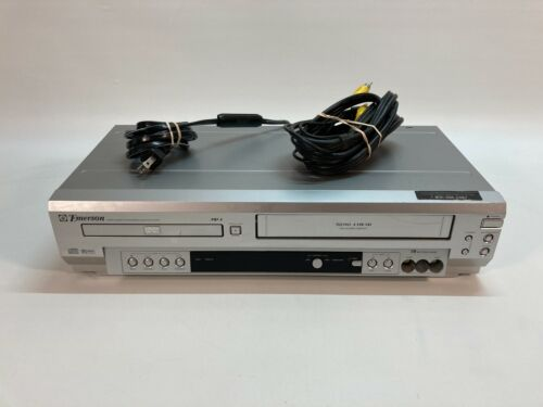 Emerson EWD2003 DVD & VHS VCR Combo Player 4 Head Tested & Works