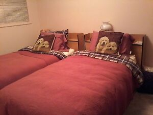Two near new matching twin beds