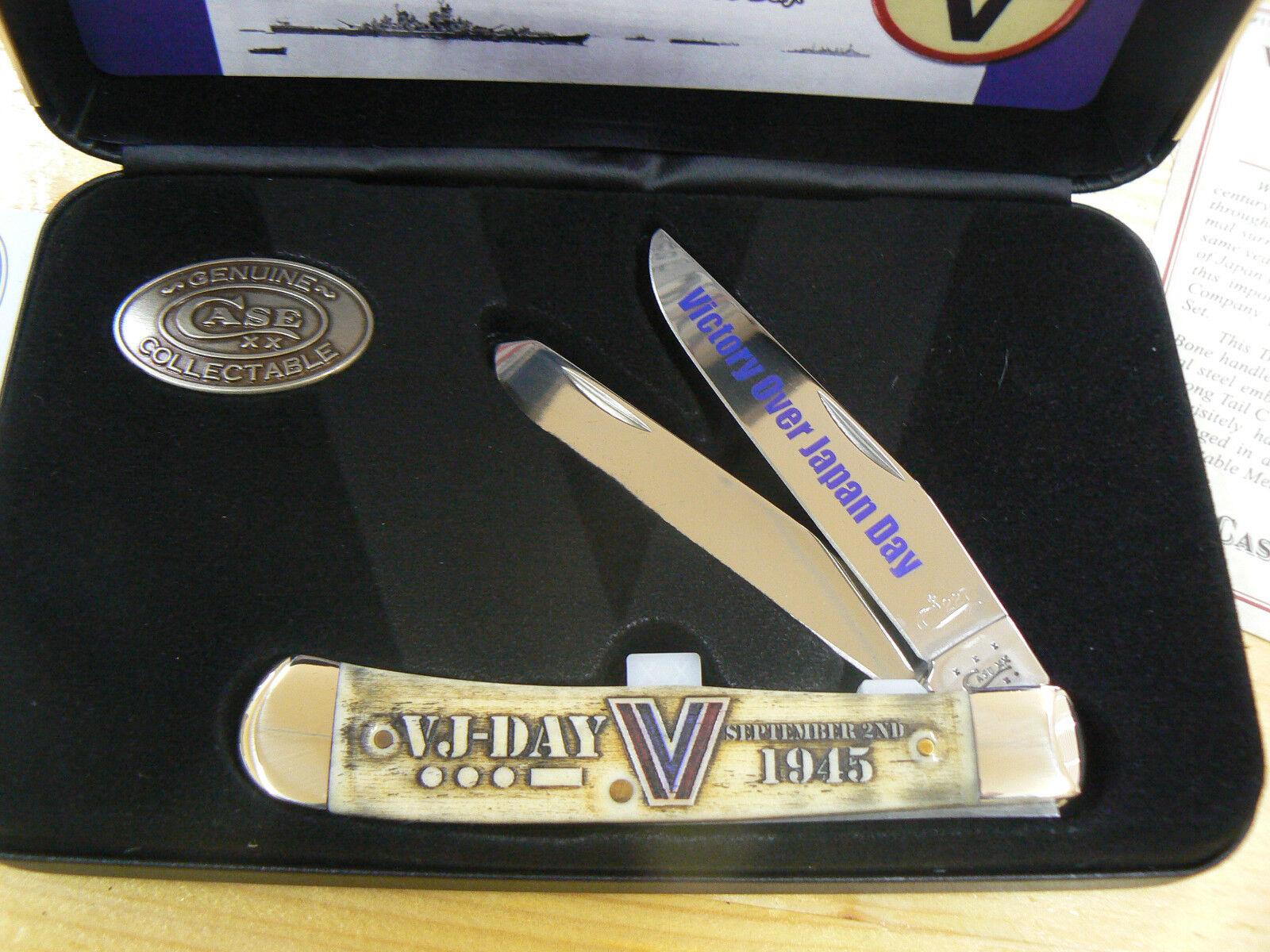 NUOVO Case CA11950 VJ-Day Commemorative Trapper coltello knife couteau navaja