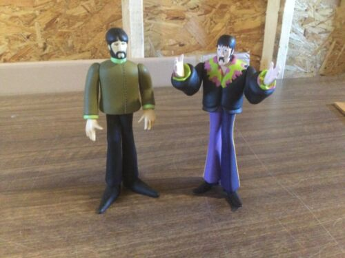 1999 THE BEATLES YELLOW SUBMARINE MCFARLAND COLLECTIBLES (2) FIGURES LOT