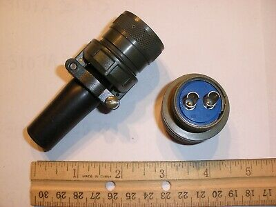 New - Ms3106a 20-23s Sr With Bushing - 2 Pin Female Plug