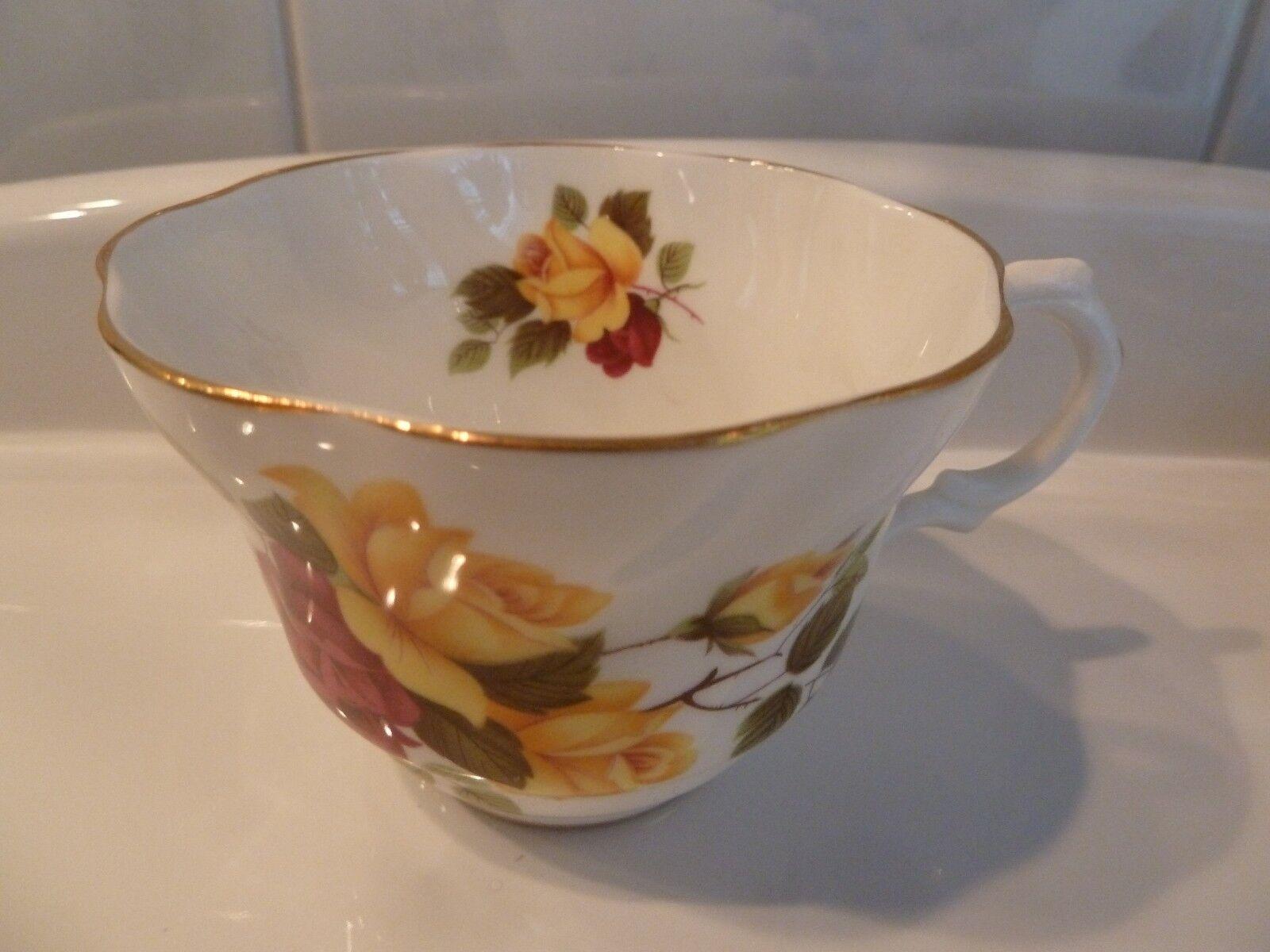 rosina roses tea cup and saucer set fine bone china england ec picclick. Black Bedroom Furniture Sets. Home Design Ideas