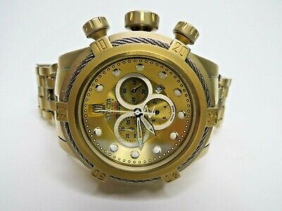 Invicta Reserve Jason Taylor Bolt Zeus Chronograph Watch 17834 Gold Swiss Made