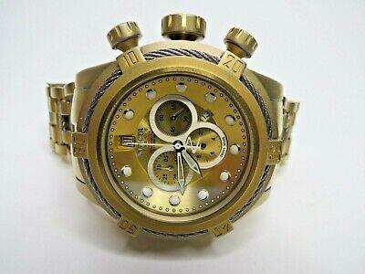 Invicta Reserve Jason Taylor Bolt Zeus Chronograph Watch 17834 Gold Swiss Made