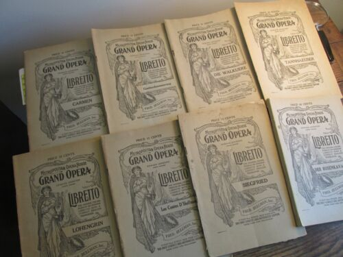 Antique Vintage Ephemera Lot Metropolitan Grand Opera House Libretto Programs