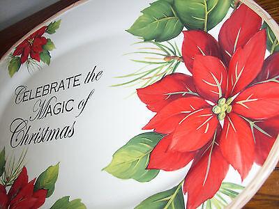 - celebrate the magic of christmas large oval platter poinsettias platter 17 +