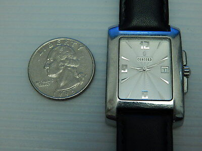 Genuine Concord Solid Stainless Steel Sportivo Date Mens Watch