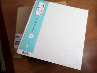 Case Of 6 Martha Stewart Home Office 1 3-ring Binder White Textured 275 Sheets