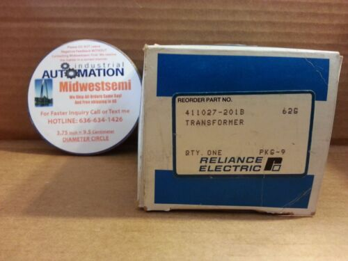 FREESHIPSAMEDAY RELIANCE ELECTRIC 411027-201B TRANSFORMER 411027201B NIB T-3059B