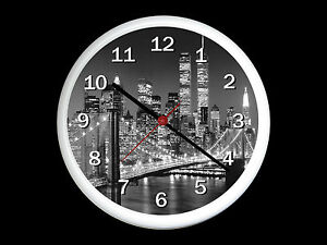 New york city wall clock can be personalised ebay for Horloge murale new york