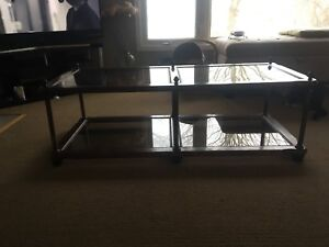 Antique glass table.