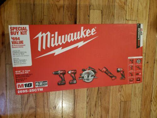 New Milwaukee 2695-25CTM M18 18-Volt Lithium-Ion Cordless Co