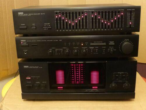 Vintage Yamaha M 65 class A Power Amplifier + CX 630 Preamplifier + Equalizer