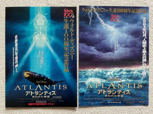 Atlantis: The Lost Empire 2001 Movie Flyer Japanese Chirashi Walt Disney 100th