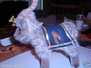 Steiff-Navy-Goat-Vintage-Piece-With-All-IDS-Present-Small-Size-1957