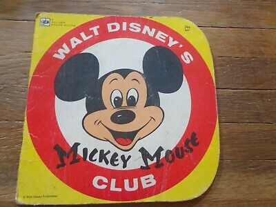 Walt Disney's MIckey Mouse Club Book 2nd Printing 1976 Golden Shape Book for sale  Liberty