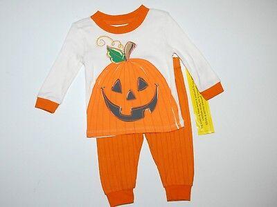Schlafanzug~USA~Nachtwäsche~56-62~Kürbis~Place~Halloween~orange~Zweiteiler~neu