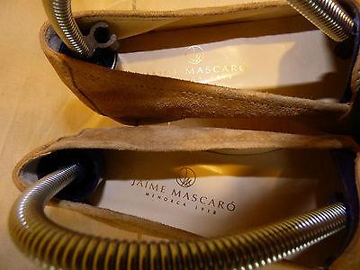 Jaime mascaro  mocassins luxe souple daim cuir beige t 36 parfait etat