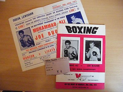 Muhammad Ali v Joe Bugner Heavyweight Championship of the World Programme +