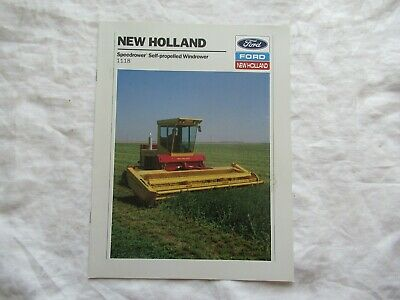 1989 Ford New Holland 1118 Speedrower Self-propelled Windrower Brochure