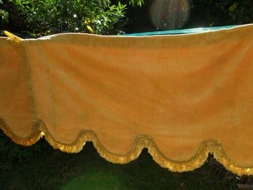 Antique French velvet valence,gold trim.Lined.