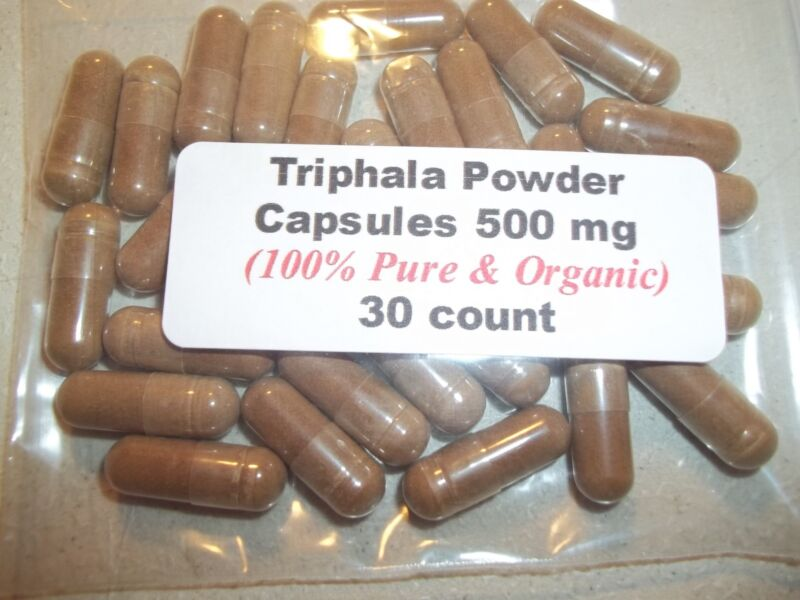Triphala Powder Capsules  500 mg - 30 Count