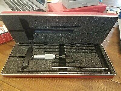Brand New Starrett 0-3 Inch Depth Micrometer Set 440-3rl Edp 52115- Made In Usa