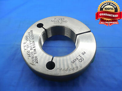 2 12 Ns 1 Thread Ring Gage 2.0 Go Only P.d. 1.9435 Uns Inspection 2.00 2.000