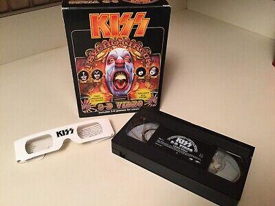 KISS Psycho Cricus 3-D Video VHS DVD Star Child W 3D Glasses New