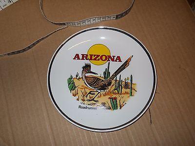 Decorative / Souvenir Plate: Arizona : Roadrunner,