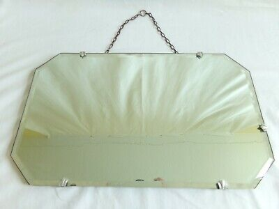 Mirror Bevelled Edge with Chain Vintage 1930's Rectangle
