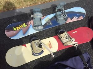 Two snowboards for sale for kids