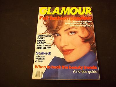 1992 August Glamour Magazine   Amber Valletta   Fashion Super Models   O 1099