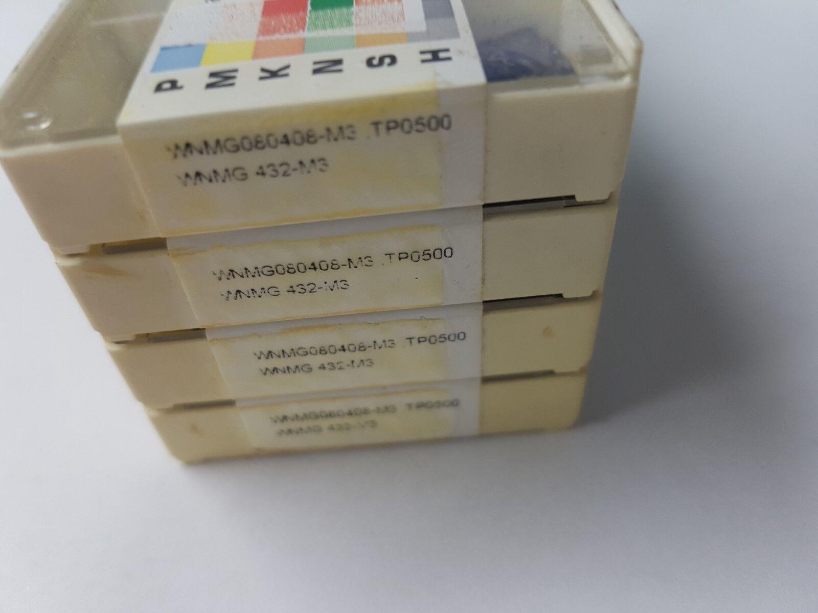 BOX 10 PCS SECO WNMG080408 WNMG432  LATHE GROOVING TURNING CARBIDE INSERTS