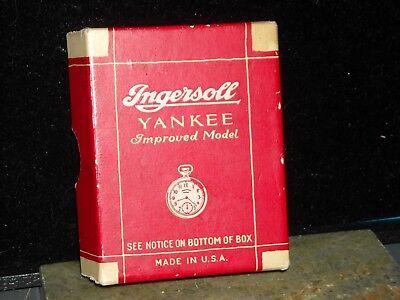 vintage ingersoll Yankee improved model USA made box only one side split
