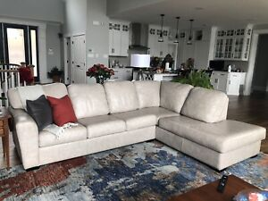 Leather Couch with Chaise from Manorhouse Furniture