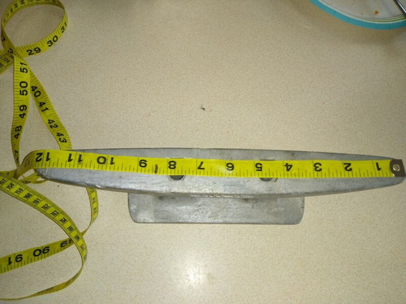 "VINTAGE Large 12"" MARINA King CO ALUMINUM BOAT DOCK CLEAT"