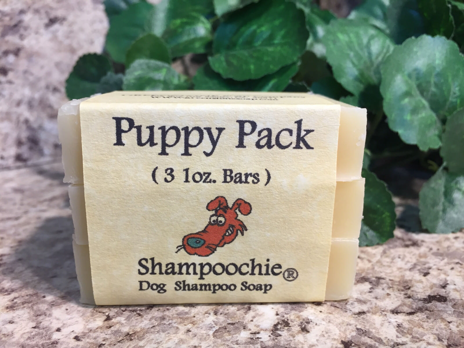 Shampoochie® All Natural Herbal Dog or Cat Shampoo Soap Sce