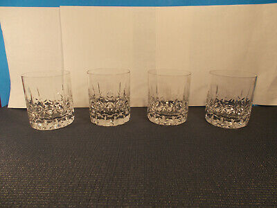 Spiegelau Crystal Metropolitan Pattern 4 Double Old Fashioned Glasses 3 3/4