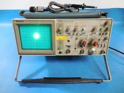 Tektronix 2235 100mhz Oscilloscope With Tektronix Tek P6105a Oscilloscope Probe
