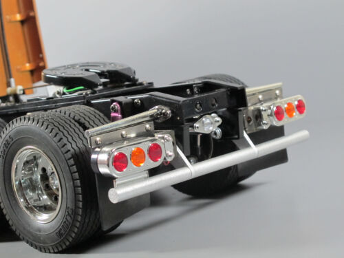 New Custom Rear Bumper Guard Set Tamiya 1/14 Semi Knight Hauler Man TGX Aeromax