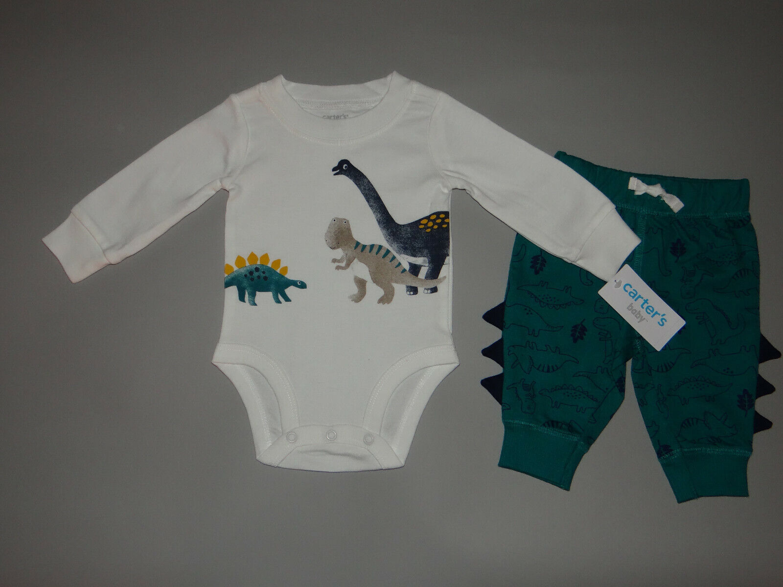 NWT, Baby boy clothes, Newborn, Carter's 2 piece Dino set