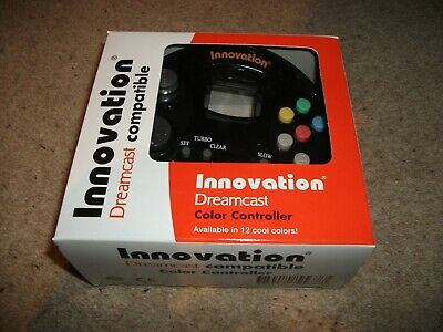 DREAMCAST CONTROLLER - INNOVATION - Clear BLACK - NEW & BOXED
