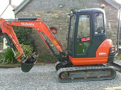 2013 KUBOTA KX61-3 mini digger 2.6 ton excavator, Trailer included