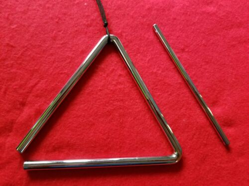 """3 Piece 6"""" Triangle Warm Chime BATONS """"3 Batons Only""""- Excellent Condition A+"""