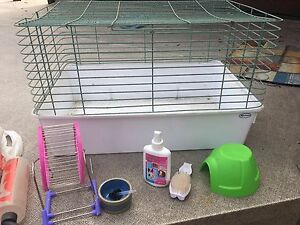 Small rodent cage and accessories