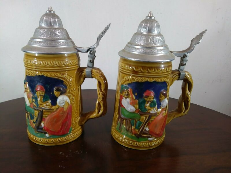 2 Beer Steins 7.5 Tall