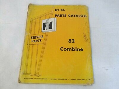 International Harvester 82 Combine Parts Catalog