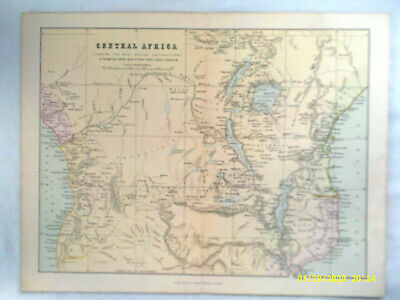 Antique Map. CENTRAL AFRICA. c1880. Pub'd Wm. Mackenzie. VG.
